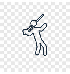 Javelin throw concept linear icon isolated on vector