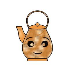 kawaii teapot vector image