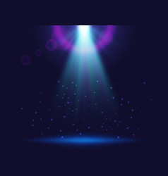 Magic shining background with lights blue vector