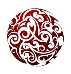 Maori style tattoo vector