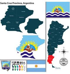 map of santa cruz province argentina vector image