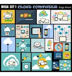 Mega Set Flat Computer Design vector image