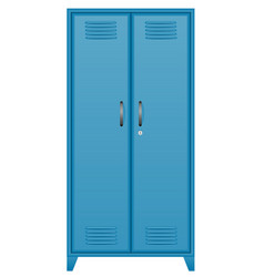 Metallic lockers stock vector