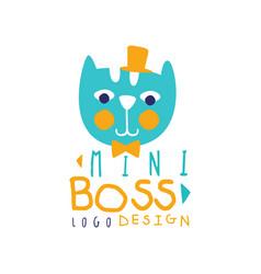 Mini boss logo original design with lettering vector