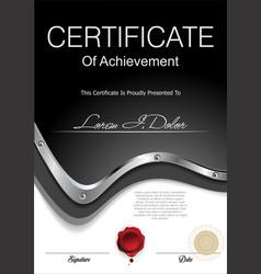 modern black industrial certificate or diploma vector image