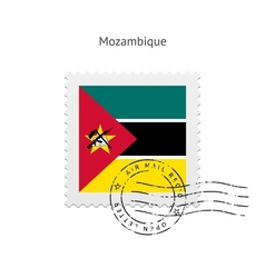 Mozambique Flag Postage Stamp vector