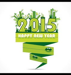 natural or eco-city new year 2015 design vector image