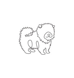 one continuous line drawing adorable vector image