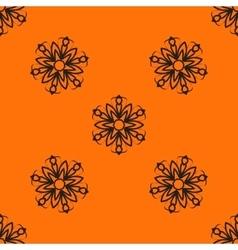 Orange elegant Ornamental stylized flower pattern vector image