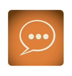 Orange emblem chat bubble icon vector