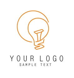 Outline logo intellect vector