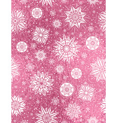 Pink glitter christmas background vector