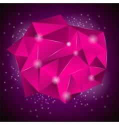 Pink Polygonal Stone vector