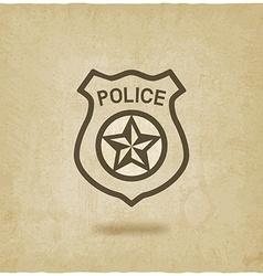 Police badge symbol old background vector