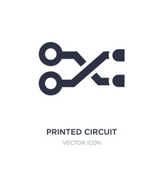 Printed circuit connections icon on white vector