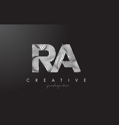 Ra r q letter logo with zebra lines texture vector