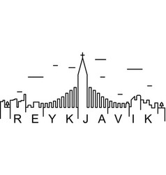 Reykjavik outline icon can be used for web logo vector