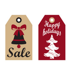 Sale happy holidays advertisement ready use labels vector