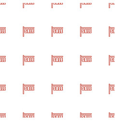 sale icon pattern seamless white background vector image