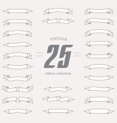 set of ribbon shapes collection of vintage design vector image