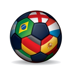 Soccer Ball with World Flags vector image