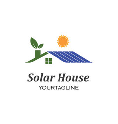 Solar panel logo icon vector