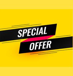 Special offer modern sale banner design template vector