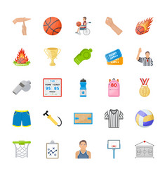 Sports flat icons vector