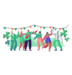 st patrick day people character drink beer vector image