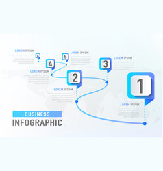 Timeline infographic 6 milestone like a road vector