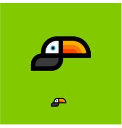 Toucan tropical bird logo vector