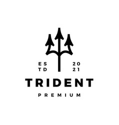 trident logo icon vector image