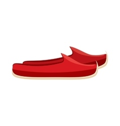 Turkish shoes icon in cartoon style vector
