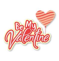 Valentine day balloon heart image vector