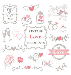 valentine s day hand drawn calligraphy and vector image
