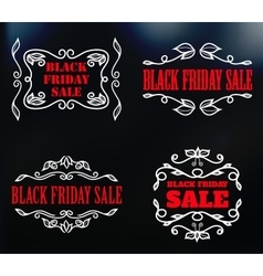 vintage badges for black friday sale vector image