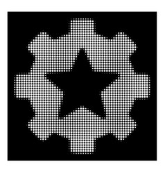 White halftone star favorites options gear icon vector