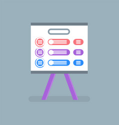 whiteboard with information for seminar conference vector image