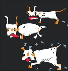 dogs running vector image