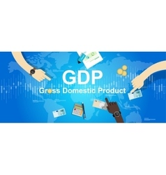 gdp gross domestic product financial vector image