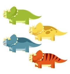 Set of Triceratopses vector image