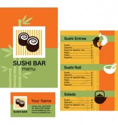 sushi bar menu vector image