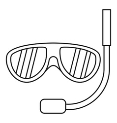 Swimming mask icon outline style vector