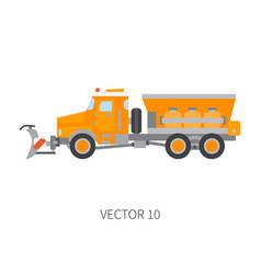 Color plain icon construction machinery vector