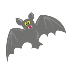 Cute hand drawn bat isolated on white background vector image vector image