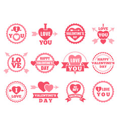 heart lips and other symbols of lovers vector image