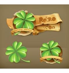 Lucky Clover icon vector image