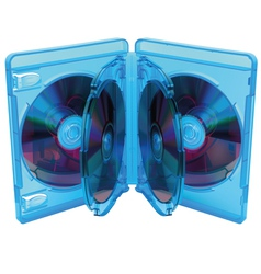 opened Blu Ray disc box with discs vector image