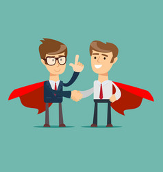 superhero proudly standing in a confident pose and vector image