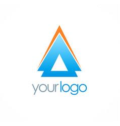Arrow up triangle logo vector